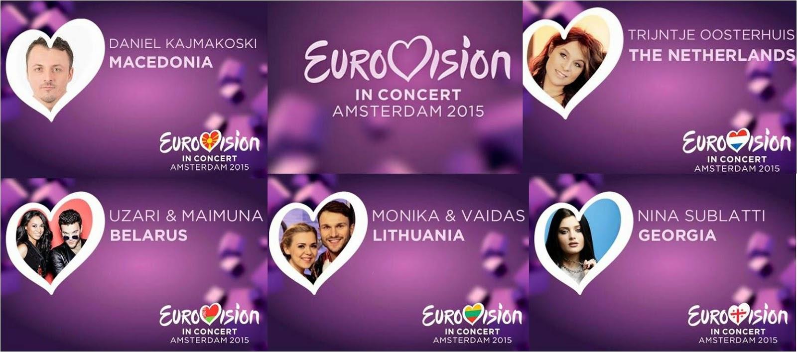 Eurovision in Concert 2015: Performances of FYROM,Netherlands,Belarus, Lithuania,Georgia