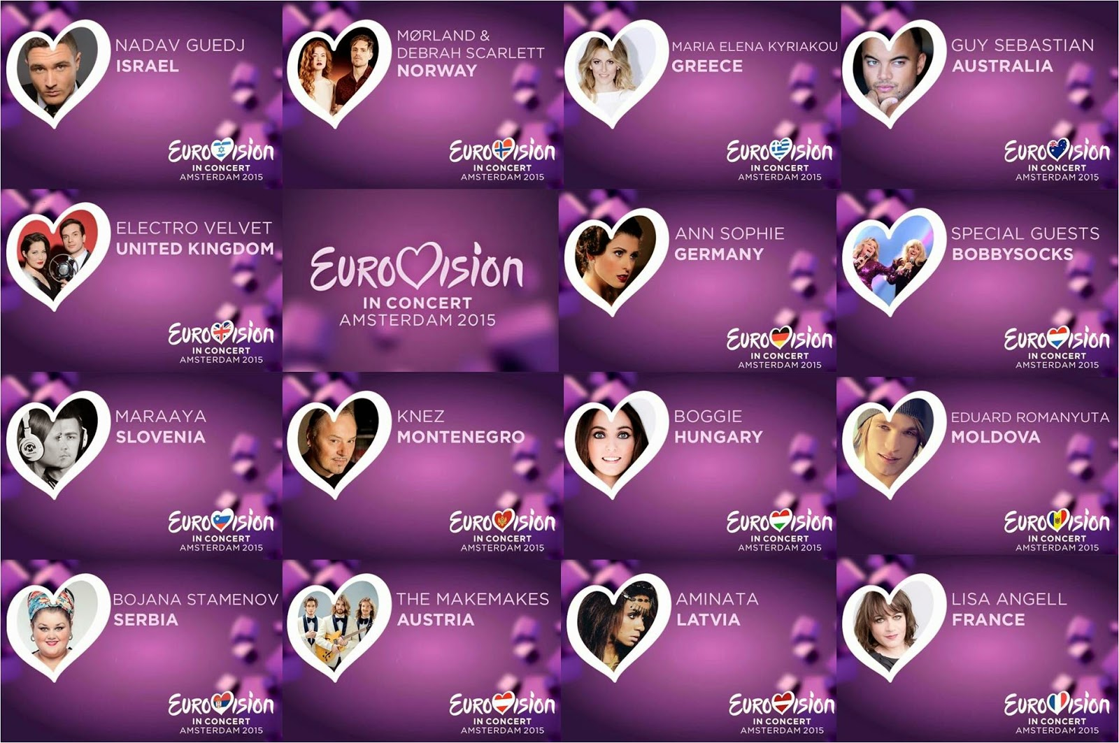 Eurovision in Concert 2015:Performances of Austria, Hungary,Latvia,UK,Slovenia,Montenegro