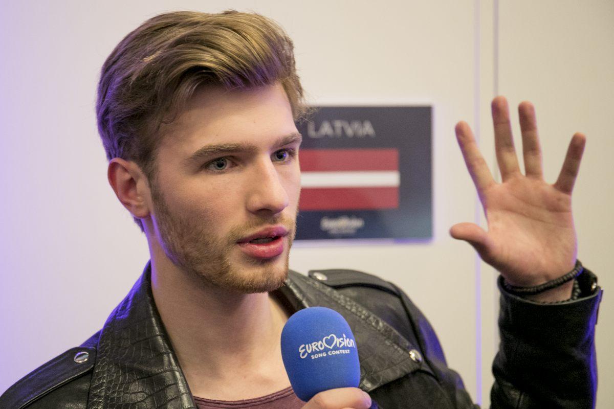 Latvia's First rehearsal