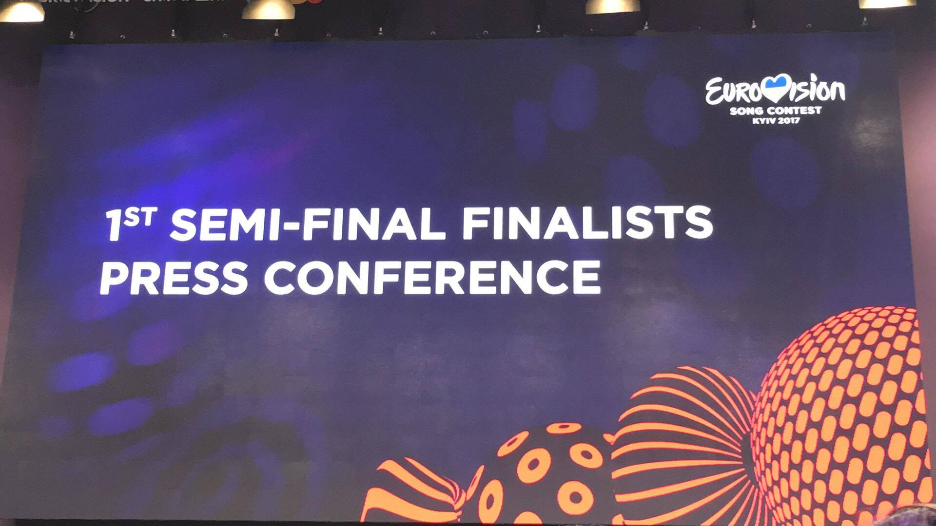 The press conference of the 1st semi final winners