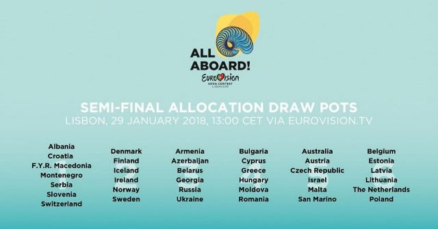 Eurovision 2018: Today Live From Lisbon The Semi Final Allocation Draw.
