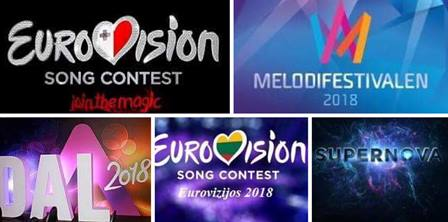 Eurovision 2018 : First Super Saturday with 5 National Selection shows.
