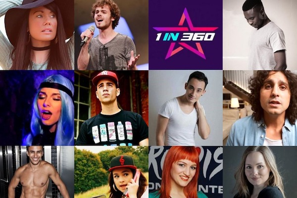 "San Marino: The studio version of  ""1in360"" final competing songs"