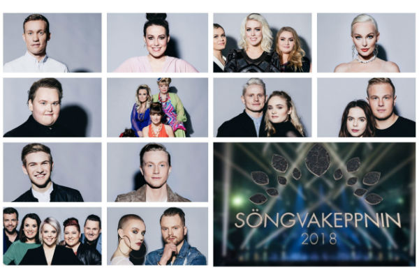 Iceland: The First Semi Final results of Söngvakeppnin 2018.