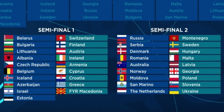 Eurovision 2018: The Second Semi-final countries' qualifying history