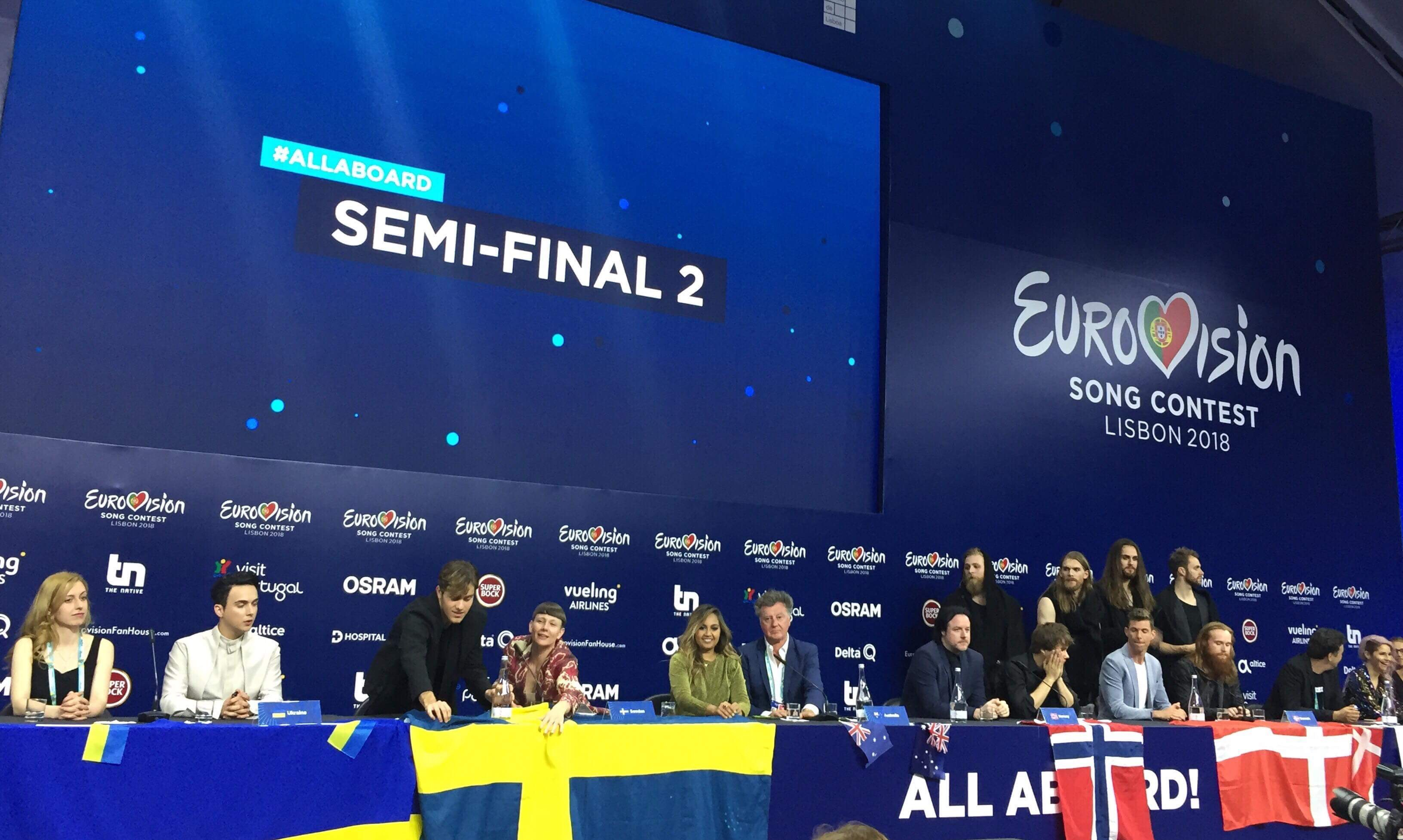 Eurovision 2018: 2nd Semifinal Press Conference and the draw for the Grand Final