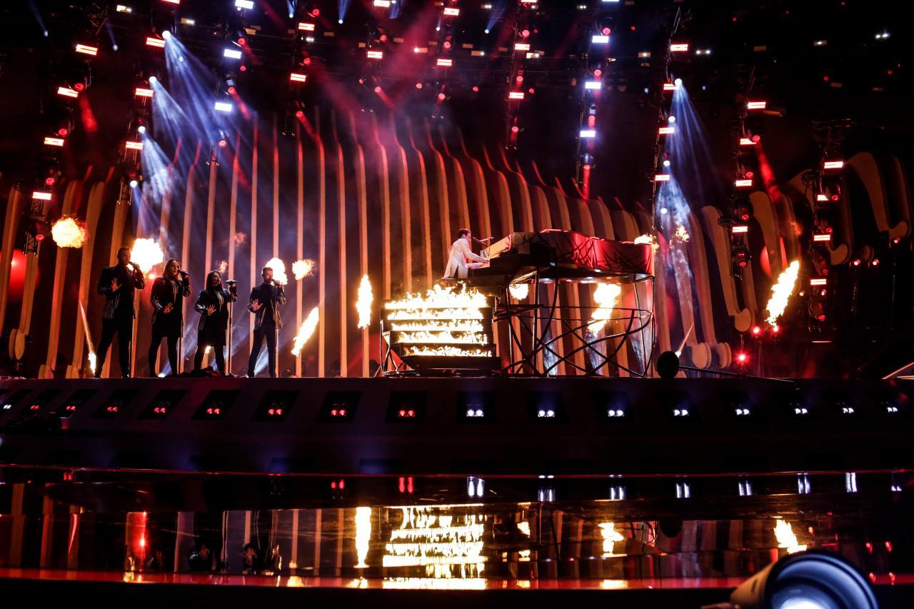 Ukraine 2018: Melovin's second rehearsal on stage.