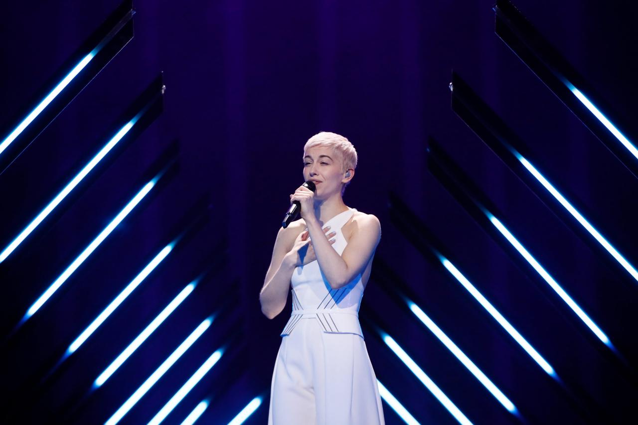 United Kingdom 2018: SuRie's first rehearsal on stage
