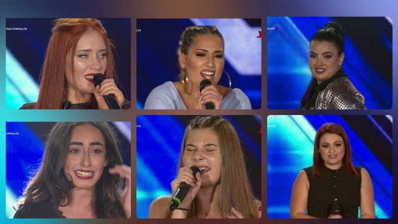 Malta: The six girls who got a spot during the Six Chair Challenge round