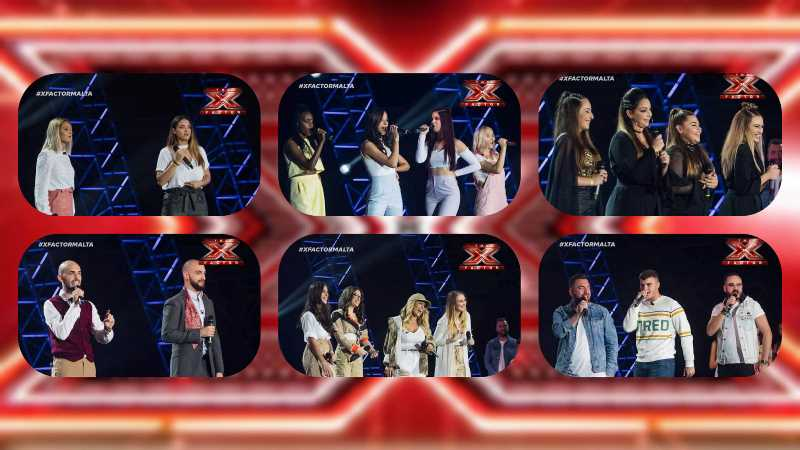 Malta: The six Groups that qualified to the Judges' Houses round on X-Factor Malta