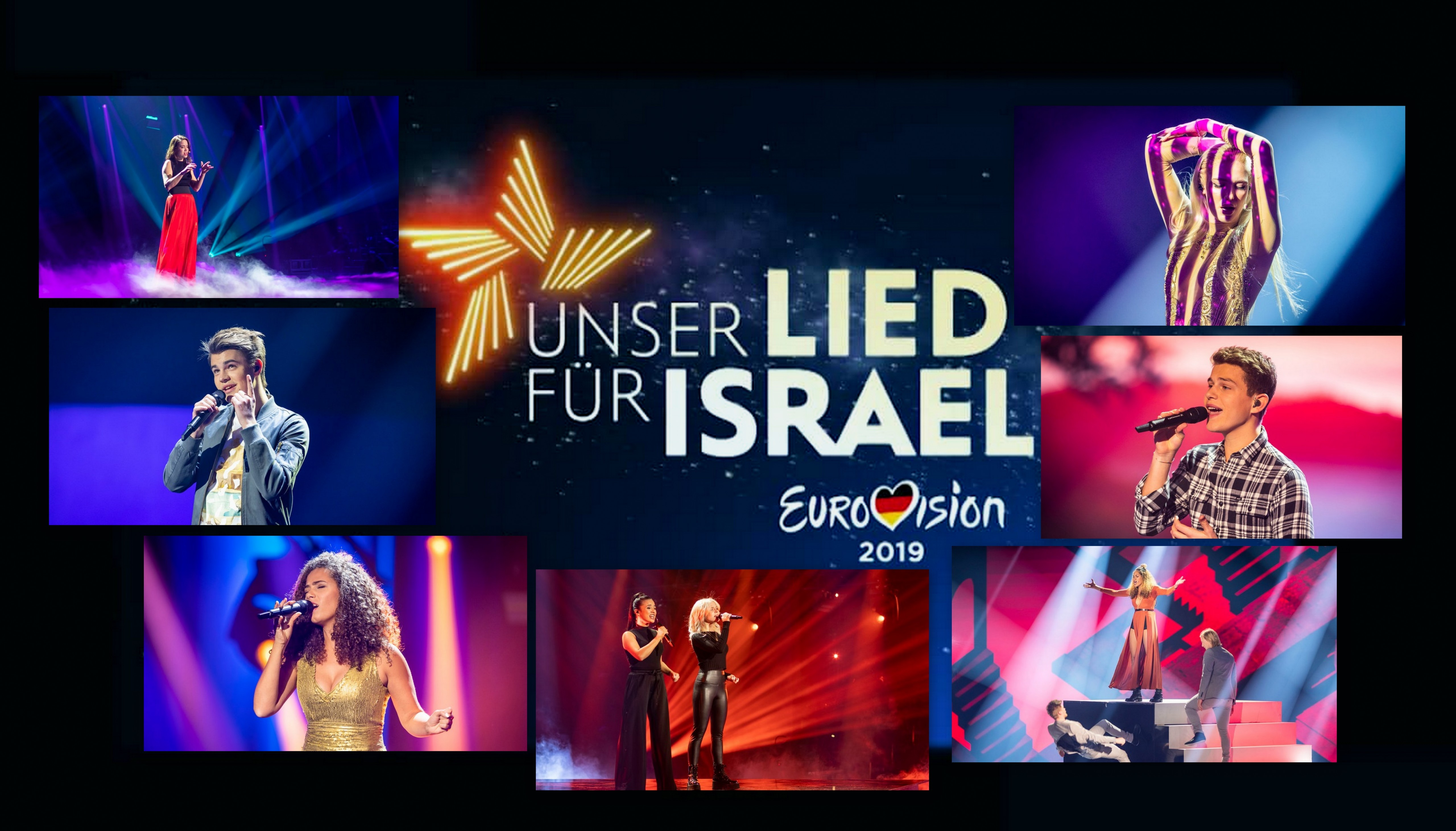 "Germany: Rehearsal footage of ""Unser Lied für Israel"" finalists"