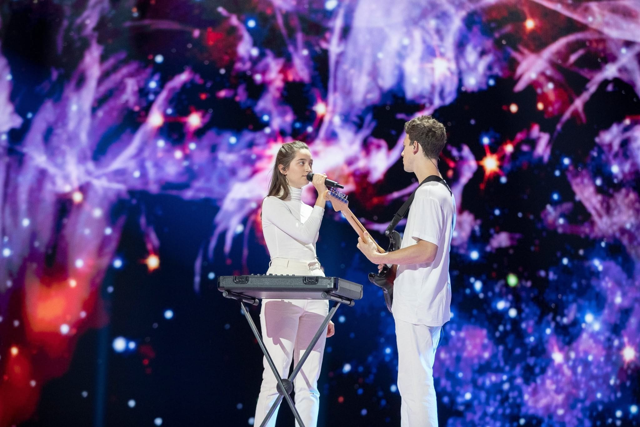 Slovenia:  Zala Kralj & Gašper Šantl rehearse first time on stage