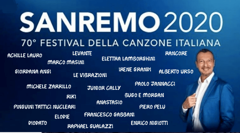 Italy: Sanremo Festival 2020 contestants unveiled