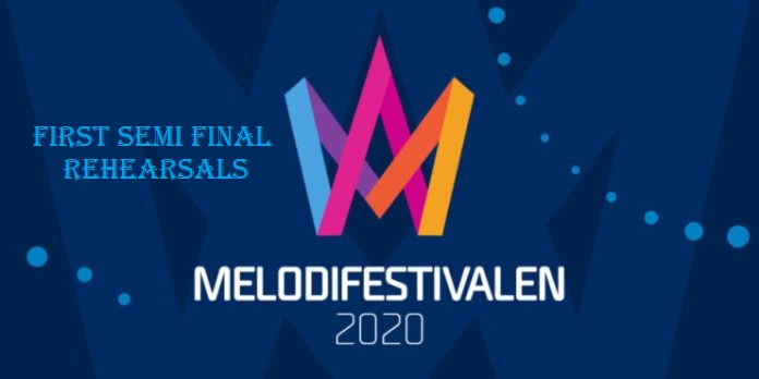"Sweden: Rehearsal footage of the ""Melodifestivalen 2020"" 1st Semi-Final acts"