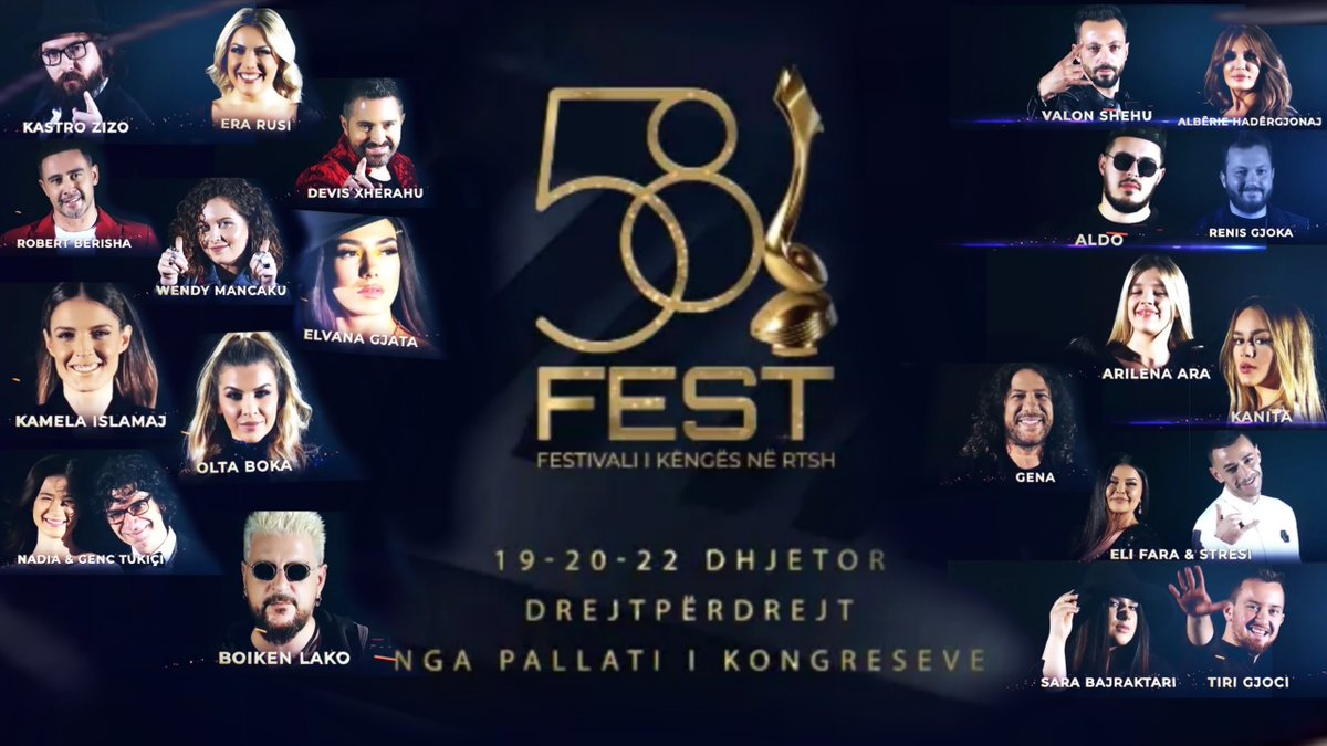 Albania: These are the competing songs of the 58th Festivali i Këngës