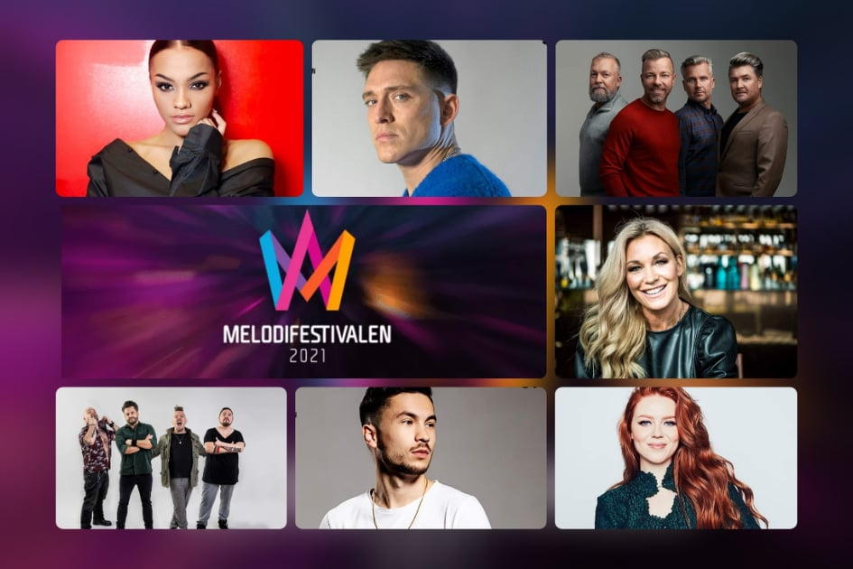 """Sweden: SVT releases snippets of the """"Melodifestivalen 2021"""" 1st Semi-Final entries"""