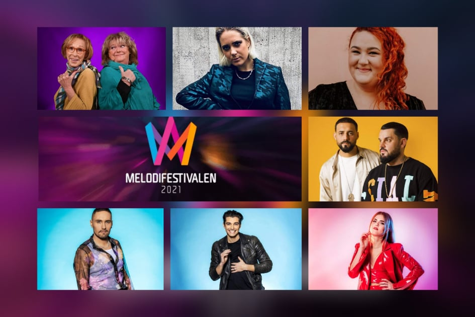 """Sweden: SVT releases snippets of the """"Melodifestivalen 2021"""" Second Semi-Final entries"""