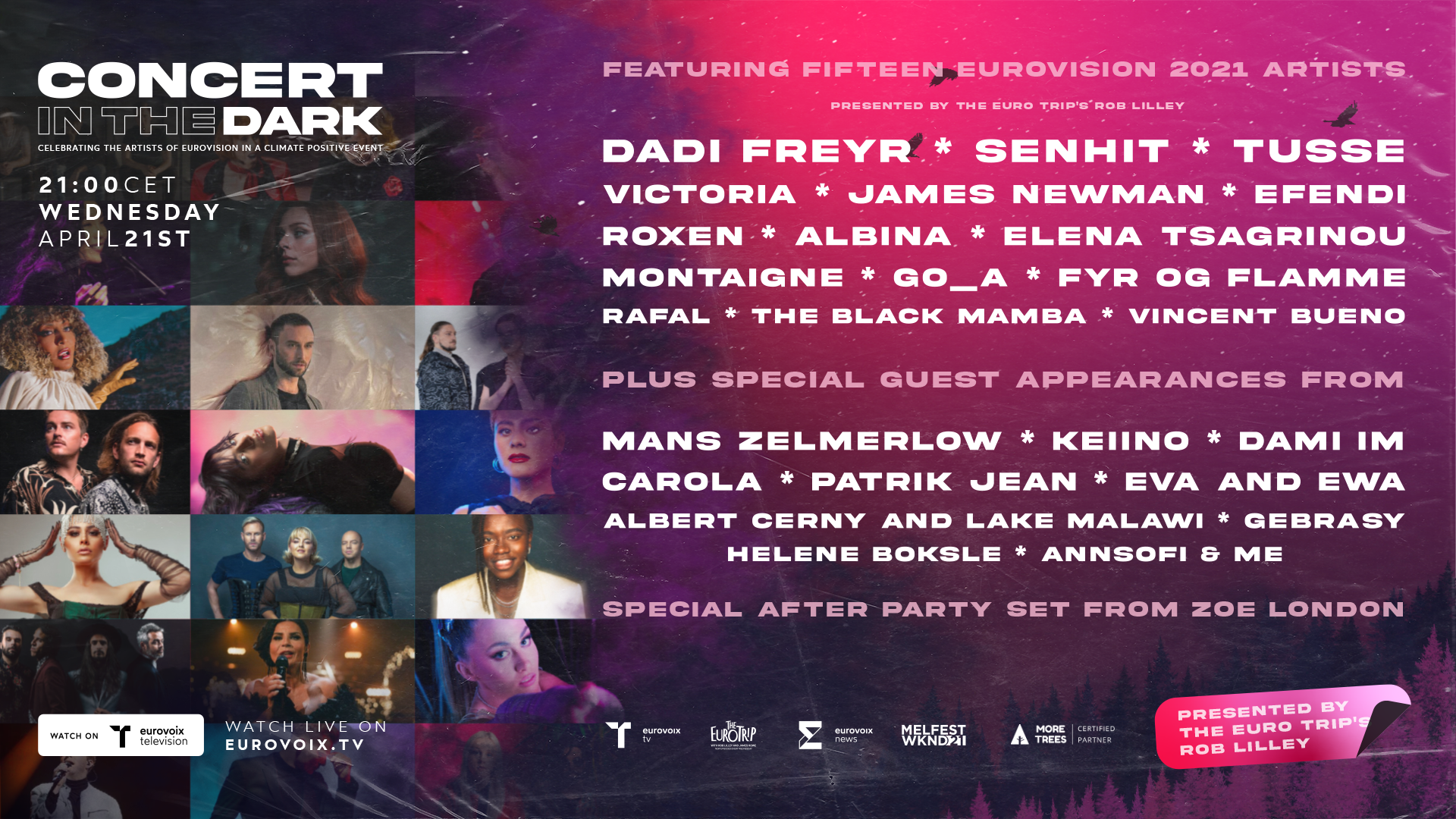 Eurovision 2021 Pre-Party: Tonight 'Concert in the Dark' takes place online