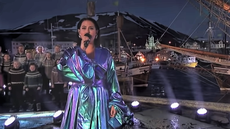 "Eurovision Song Contest -The Story of Fire Saga : Molly Sandén peforms live from Iceland ""Husavik"" for the 93rd Oscars pre-show"